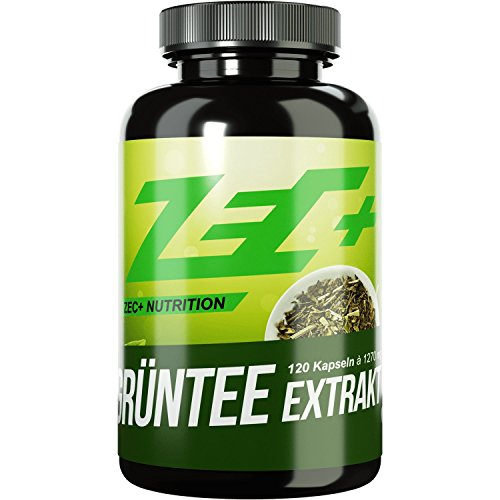 #ZEC+ Kapseln GRÜNTEE EXTRAKT | am höchsten dosierter Extrakt aus grünem Tee | 1000 mg pro Kapsel | steigert das Wohlbefinden und allgemeine Gesundheit | 120 Kapseln#