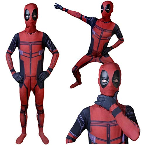 JUFENG Deadpool Cosplay Kostüm 3D Gedruckt Kinder/Erwachsene Lycra Spandex Deadpool Kostüm Für Halloween Cosplay Zentai ()