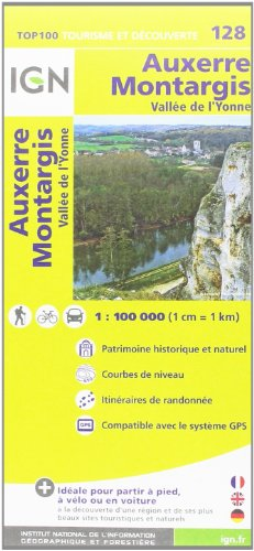 TOP100128 AUXERRE/MONTARGIS  1/100.000