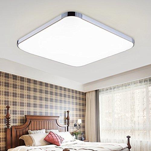 HENGDA® 48W LED Modern Deckenleuchte Energiespar Deckenlampe Schlafzimmer Panel Lampe 85V-265V Warmweiß Kaltweiß Dimmbar [Energieklasse A++]