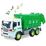 HERSITY Camion Spazzatura con Luci e Suoni Macchinine Giocattolo Modellini Auto Regalo per Bambini Ragazzo