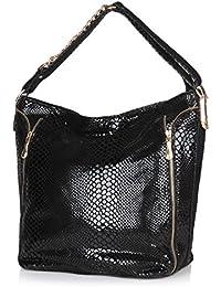 Neeshi Women's Tote Bag Snake Black (F Z)