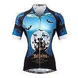 Thriller Rider Sports® Donna Halloween Sport e Tempo Libero Abbigliamento Ciclismo Magliette Manica Corta Medium