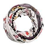 CODELLO Snoopy Ombre Loop mit Bommeln und bunten Snoopy grau 82113807