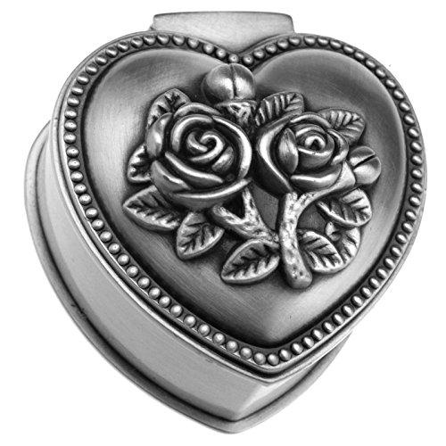 Schmuckbox Geschenkbox Herz Ring Ohrringe Trinket Aufbewahrungskiste Legierung