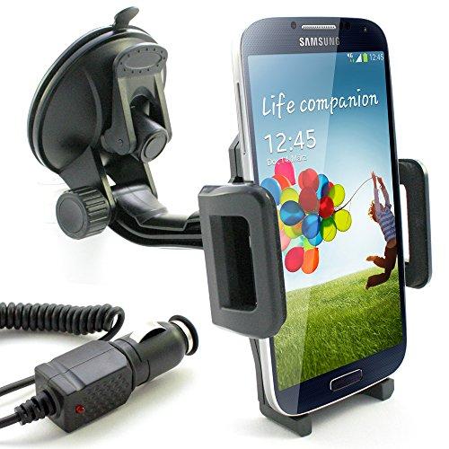 KFZ Halterung inkl. KFZ Ladekabel für Samsung Galaxy S7 / S7 edge / S6 / S6 edge / S6 edge+ / S5 / S5 mini / S5 neo / S4 / S4 mini / S3 / S3 mini / S2 / S2 Plus / S / A3 / A5 / J1 / J5 / Auto Halter Ladegerät (Samsung Galaxy S3 Auto Handy Halterung)