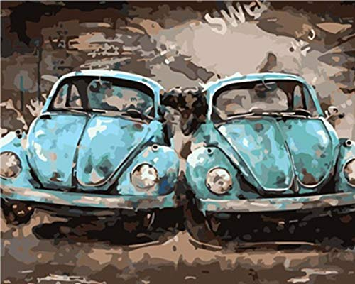 Stilvolle Coole Käfer Auto Puzzle 1000 Stück Für Erwachsene Aus Holz Tragbares Geschenk Für Mann Frau Logik Herausforderung (Cool Stück Puzzles 1000)