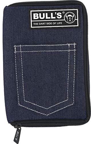 BULL'S TP Dartcase, Darttasche mit Gürtelbefestigung, Spitzenröhrchen, jeans