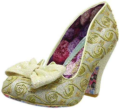 Irregular Choice Damen Nick of Time Pumps, Gelb (Yellow Multi AP), 40 EU