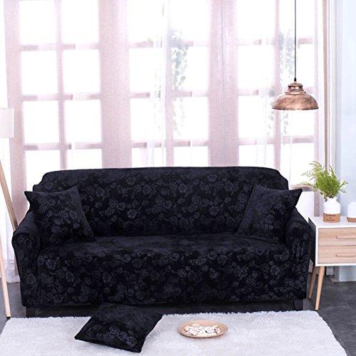 SCEDGJDVXBB Elastische schutzhülle,M?Bel Protector Schild Sofa Protector Sofa abdeckungen für Leder Sofa Sofa setzt Sofa kissenbezüge-schwarz Loveseats -