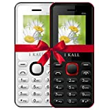 I KALL K66 Dual Sim 4.57 cm (1.8 Inch) Mobile Phone Combo - K66 (White & Red)