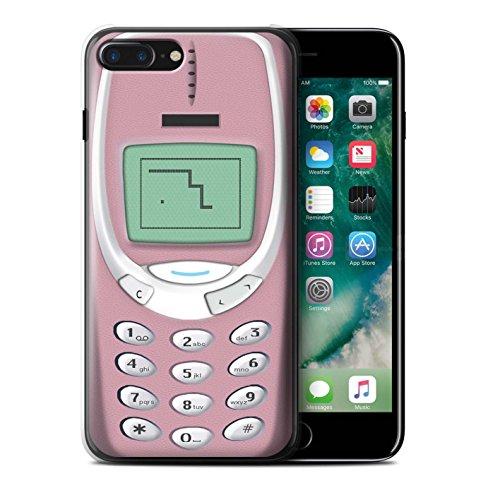Stuff4 Hülle / Case für Apple iPhone 7 Plus / Rosa Nokia 8210 Muster / Vintage Handys Kollektion Rosa Nokia 3310