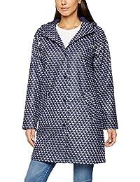 Joules Women's Rain Dance Coat, Blue (French Navy Oyester Catcher), 12