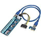 Gazechimp USB 3.0 PCIE Express Tarjeta Riser Cable de Alimentación de Elevación de Extensor 16x