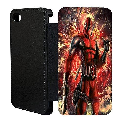 MARVEL-Superhelden Comicbuch Flip Tasche Geldbörse für Apple iPhone 6 - 6S - Deadpool - - Machen Deadpool
