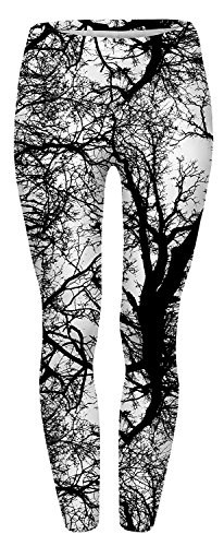 Alive Damen Leggings One Size Gr. One Size, Tree Branch - Länge Leggings Footless Tights