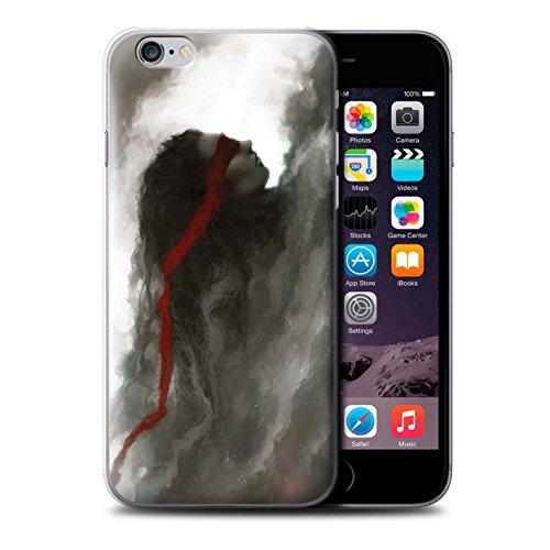 Offiziell Chris Cold Hülle / Case für Apple iPhone 6+/Plus 5.5 / Hades/Phantom Muster / Unterwelt Kollektion Rotes Band-Engel