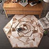 Aishankra Runde Schlafzimmer Teppich Wohnzimmer Boden Kunst Teppiche Nordische Einfache Moderne Studie Nachttisch Kaffeetisch Teppich Teppich Runden Teppich,3,3'6''Diameter/110Cmdiameter