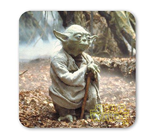 Star Wars Untersetzer - Krieg der Sterne - Master Yoda - farbig - Lizenziertes Originaldesign -...