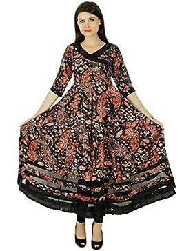 Phagun étnico Kurti Rayón floral diseñador superior Bollywood Kurta mujeres vestido de la túnica