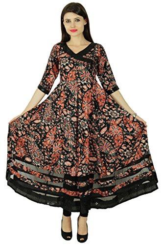 Phagun Ethnischen Kurti Rayon Blumen Top-Designer Bollywood Kurta Frauen Tunika-Kleid -