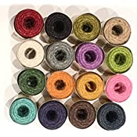 Colección de mini Nutscene patrimonio Twine Carretes–16colores (13m cada uno)