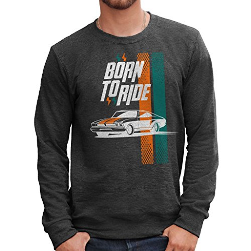 MUSH Sweatshirt Racing Car by Dress Your Style - Herren-M-Grau -