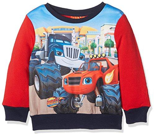 Nickelodeon blaze monster truck, felpa bambino, rosso (red 19-1763tc), 2-3 anni
