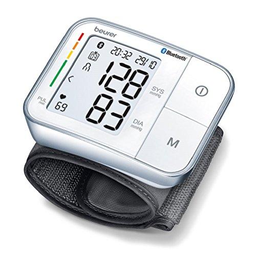 Beurer BC 57 Misuratore di Pressione da Polso Bluetooth, con Inflation Technology per Misurazioni Rapide e Comode