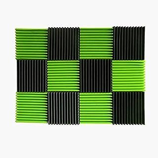 AKUSTIKNOPPENSCHAUM Fliesen Studio Akustik Schaumstoff Sound Keile (2,5cm) Green / Charcoal