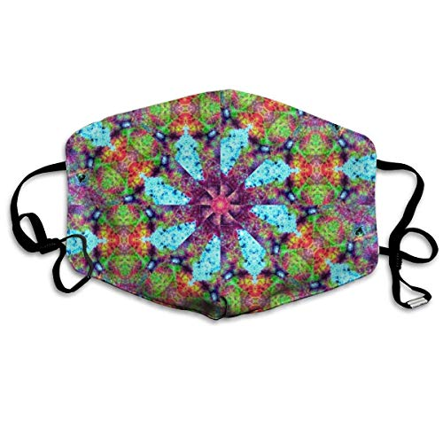 Zcfhike Anti Dust Pollution Mask Abstract Kaleidoscope Print Reusable Washable Earloop Face Mouth Mask Men Women