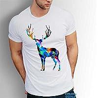 Hirsch Männer T-Shirt Art Geschenk für Jäger