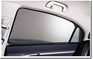 Santech Car Window Magnetic Sunshades With Wooden Keyring for Tata Zest Diesel XE Diesel