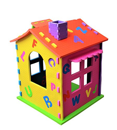 Children's Rigid Playhouse Indoor Outdoor Kids Garden Play House Wendy house (Blue)