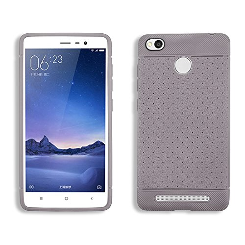 Parallel Universe Leather like Textured TPU Dotted Grip cover for Xiaomi Redmi 3s Prime. Also compatible with Xiaomi Redmi 3s – Coffee