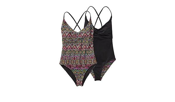 429dbdbc41538 Patagonia Reversible One-Piece Kupala Swimsuit Papyrus Pop Black X-Large  (X-Large): Amazon.co.uk: Clothing