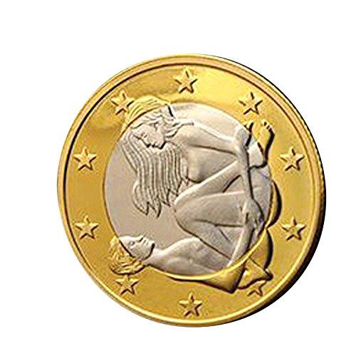 SMENGG Feather Giocattolo per Adulti flirtare Stimolare Prodotto del Sesso Monete del Giocattolo delle Coppie della Raccolta di Monete Dure del Sesso Differente Monete del Sesso
