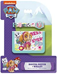 Kids Paw Patrol Skye Set Reloj + Billetera, Color Azul