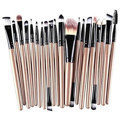 leisial 20pcs Bürsten Set-Augen Schönheit Werkzeug Kit Foundation Staub Pinsel Bürste Augenbrauen-Pinsel Augen Make-up Pinsel Rosa + schwarz