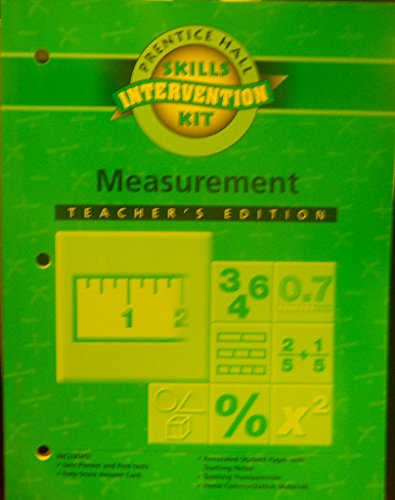 Measurement Intervention Unit Workbook Teacher's Edition: Part of Math Skills Intervention Kit