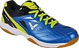 VICTOR SH-A170 Badmintonschuh / Indoor Sportschuh / Squashschuh / Hallenschuh, blau/grün - Gr. 42