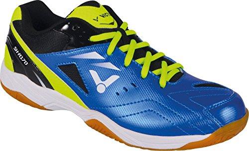 VICTOR SH-A170 Badmintonschuh / Indoor Sportschuh / Squashschuh / Hallenschuh, blau/grün - Gr. 43