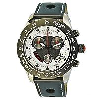 No limit Nautec Herren-reloj cronógrafo de cuarzo de caucho 2 Typhoon TY2 - QZ-RBSTBKWH-WH de Nautec No Limit