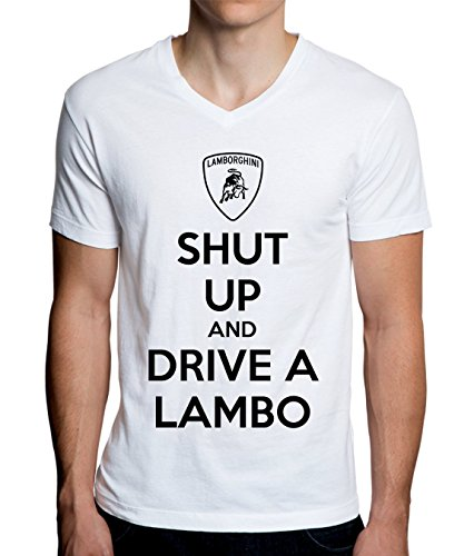 Shut Up And Drive Lamborghini Men's V-Neck T-Shirt - Lamborghini-shirt