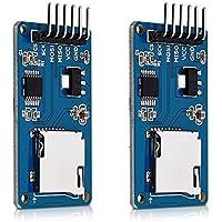 kwmobile Lot 2x module carte micro SD - Lecteur carte mémoire - Compatible avec cartes Arduino Raspberry et autres microcontrôleurs