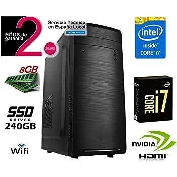 Megamania Ordenador SOBREMESA Intel Core i7 up 2,8Ghz| SSD 240GB ...