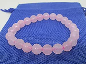 Plusvalue Pink Rose Quartz Beads Bracelet for Love & Relationship & Marriage - Fengshui Vastu