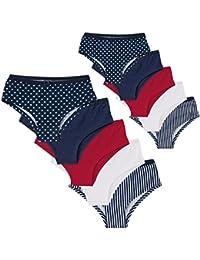 5er oder 10er-Pack Damen Pantys für jeden Tag - gestreift, gepunktet und uni im Vorteilspack Unterhose - versch. Farben und Größe XL
