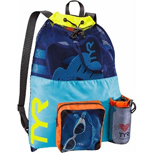 TYR Unisex Big Mesh Mummy Rucksack Tasche, Blue / Yellow, Einheitsgröße -