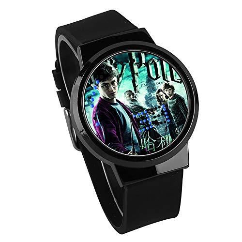 Goule NA Harry Potter Death Hallows Reloj Pantalla Táctil LED Reloj Creativo Moda Impermeable Reloj para Niños y Niñas,B2
